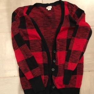 Buffalo Plaid Boyfriend Cardigan